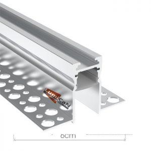 Perfil Led Alumínio No Frame Gesso 6,0cm x 3,6cm