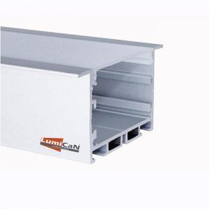 Perfil Led Alumínio Embutir 6,5cm x 3,5cm
