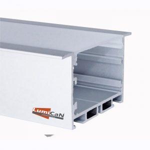 Perfil Led Alumínio Embutir 9,0cm x 3,5cm