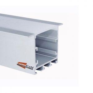 Perfil Led Alumínio Embutir 5,0cm x 3,5cm
