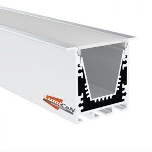 Perfil Led Alumínio Embutir 4,0cm x 3,5cm