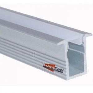 Perfil Led Alumínio Embutir Super Slim 1,3cm x 1,2cm