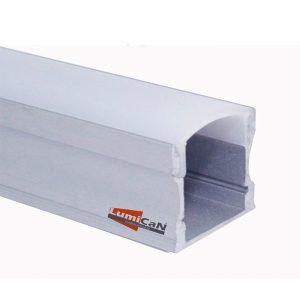 Perfil Led Alumínio Sobrepor 1,7cm x 1,5cm