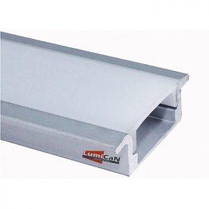 Perfil Led Alumínio Embutir Slim 2,4cm x 0,6cm