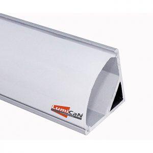 Perfil Led Alumínio Sobrepor Canto 90° 1,6cm x 1,6cm