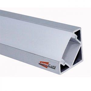 Perfil Led Alumínio Sobrepor Canto 90° 1,8cm x 1,8cm