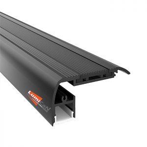 Perfil Led Alumínio Sobrepor Escada 6,6cm x 2,7cm