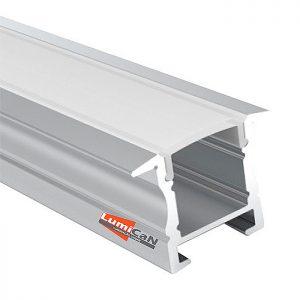 Perfil Led Alumínio Embutir 2,5cm x 1,8cm