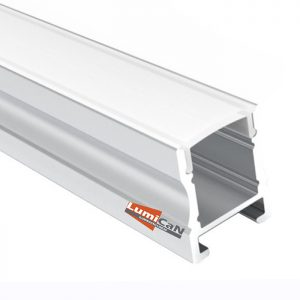 Perfil Led Alumínio Sobrepor 1,7cm x 1,8cm