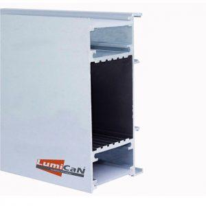 Perfil Led Alumínio Sobrepor Arandela 4,2cm x 8,5cm