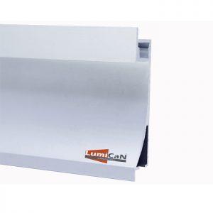 Perfil Led Alumínio Embutir Rodapé 1,4cm x 6,7cm